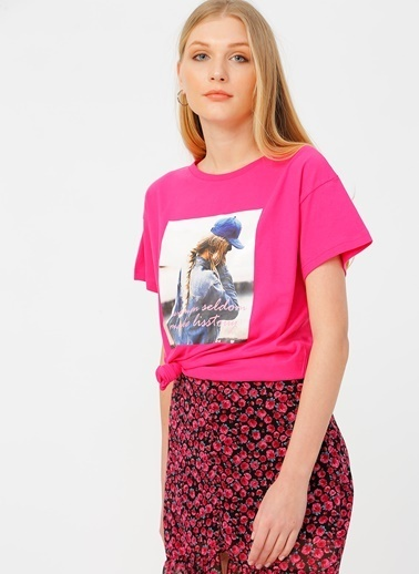 Quzu Quzu Fuşya T-Shirt Fuşya